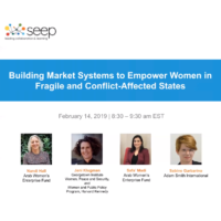 Building market systems to empower women in fragile and conflict-affected states