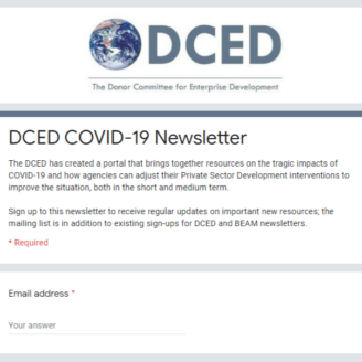 COVID-19 newsletter form