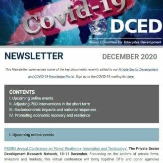 Covid newsletter cover Dec2020