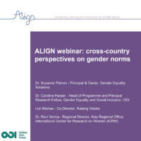 Cross-country perspectives on gender norms