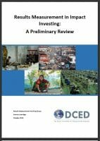 DCED RM WG Cover page image RM in Impact Investment