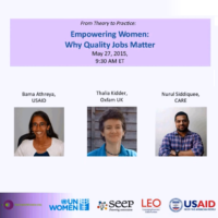 Empowering women - why quality jobs matter