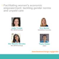 Facilitating WEE - tackling gender norms and unpaid care