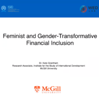 Feminist and gender-transformative financial inclusion