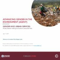 Gender and urban services