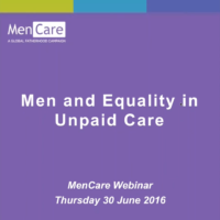 Men and equality in unpaid care