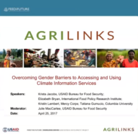 Overcoming gender barriers to accessing and using climate information services