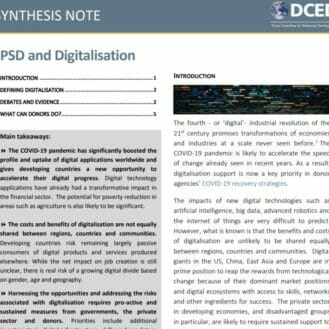 PSD Digitalisation Cover. Nov2020