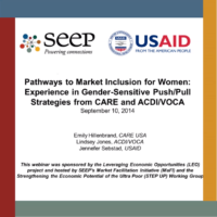 Pathways to market inclusion for women