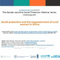 Social protection and the empowerment of rural women in Africa