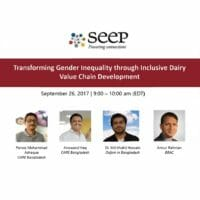 Transforming gender inequality through inclusive dairy value chain development