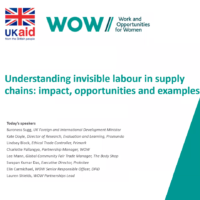 Understanding invisible labour in supply chains