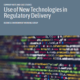 Use of New Technologies in Regulatory Delivery