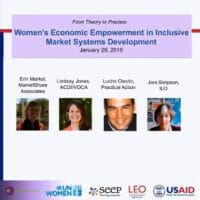 WEE in inclusive market systems development