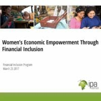 WEE through financial inclusion