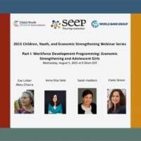 Workforce development programming - economic strengthening and adolescent girls
