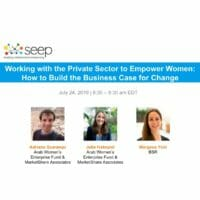Working with the private sector to empower women - how to build the business case for change